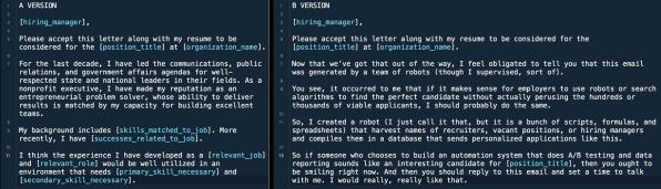 Robert Coombs and his applicationrobot
