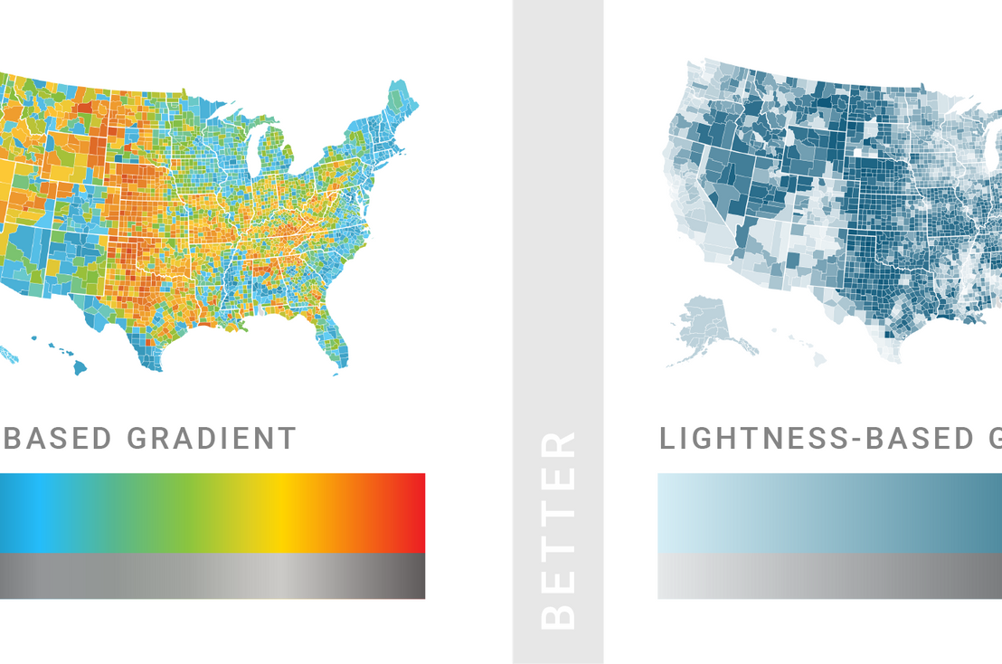 What to consider when choosing colors for data visualization, by DataWrapper.de