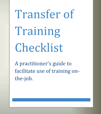 Checklist to Optimize Training Transfer in Organizations