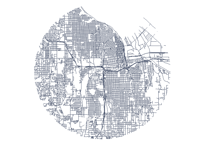 Circular Map Cutouts in R