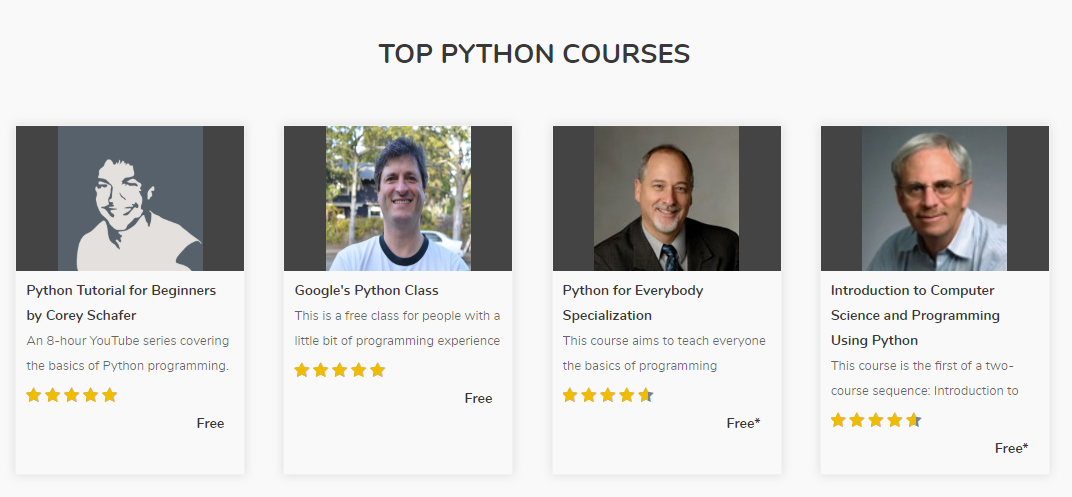 Free Python Tutorials & Courses, by CourseDuck