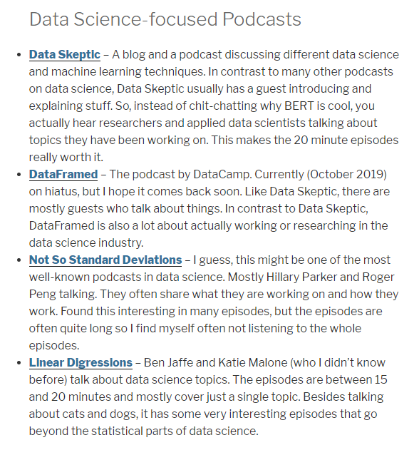 Podcasts for Data Science Start-Ups