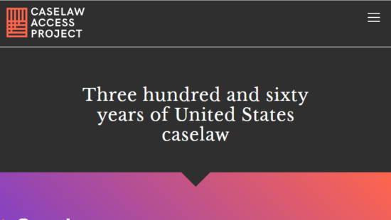 Caselaw Access Project: Structured data of over 6 million U.S. court decisions