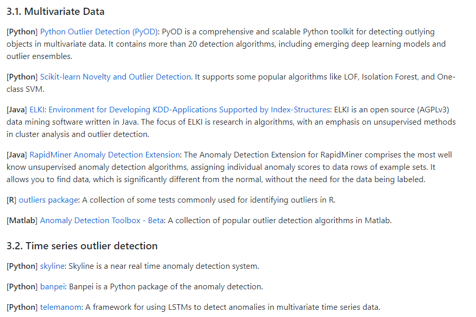 Anomaly Detection Resources