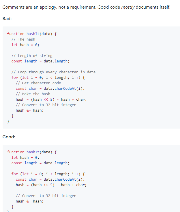 Best practices for writing good, clean JavaScript code