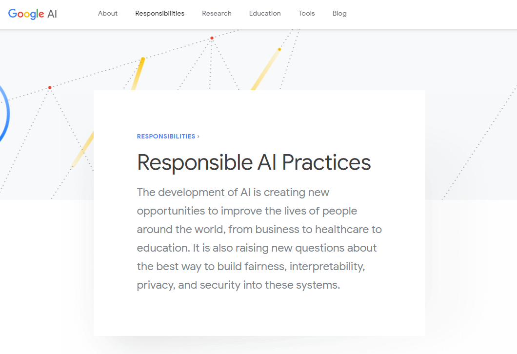 Google's Responsible AI Practices